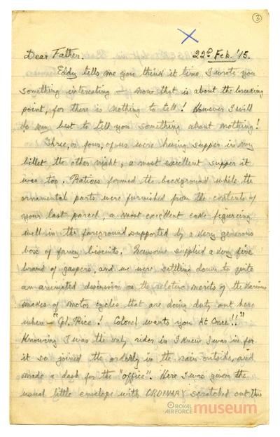 22.02.1915 - Bernards gefahrvolle Fahrt