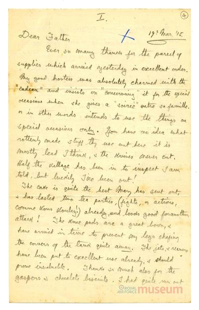 19.03.1915 - Bernard wird Zeuge eines Bombenangriffs