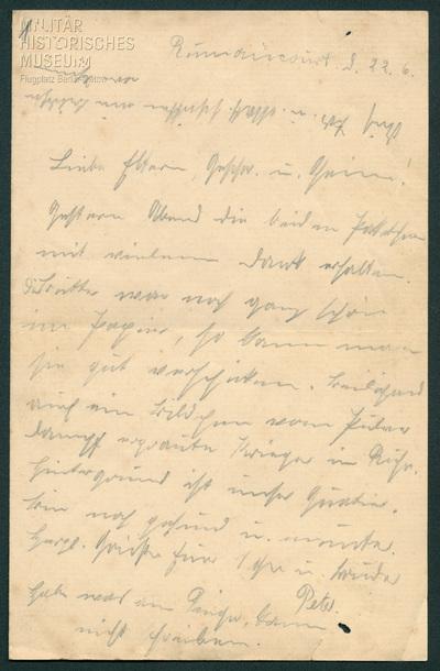 22.06.1915 - Peter nach der Lorettoschlacht