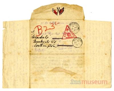 15.08.1915 - Bernard bewirbt sich um ein Offizierspatent