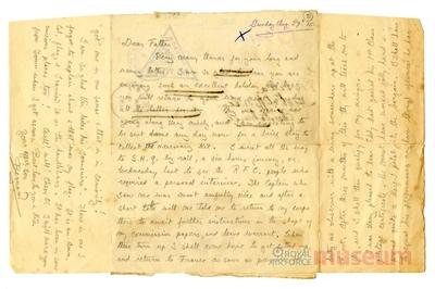29.08.1915 - Bernard tritt dem Fliegerkorps bei