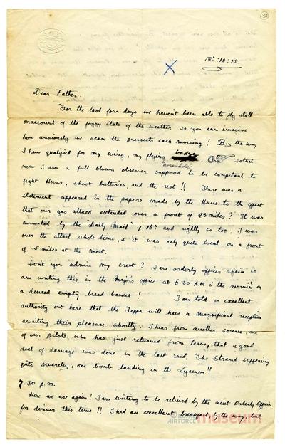 18.10.1915 - Bernard wird Beobachter