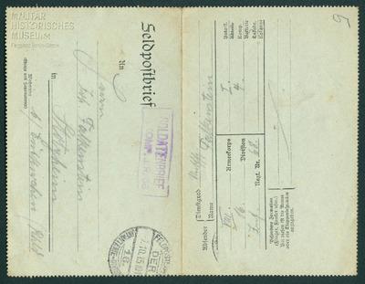 07.10.1915 - Peter beruhigt seine Eltern