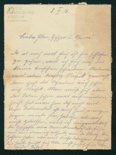 08.02.1916 - Peter ist zurück im Lazarett