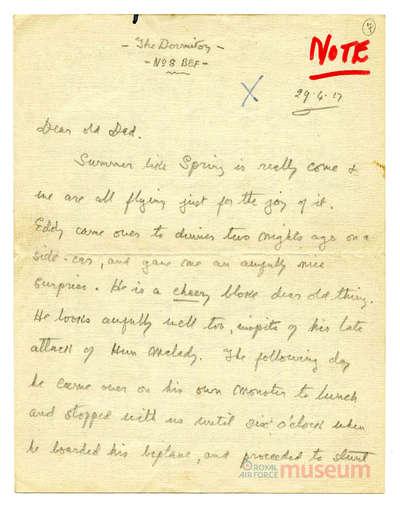 29.04.1917 - Bernards willkommener Gast