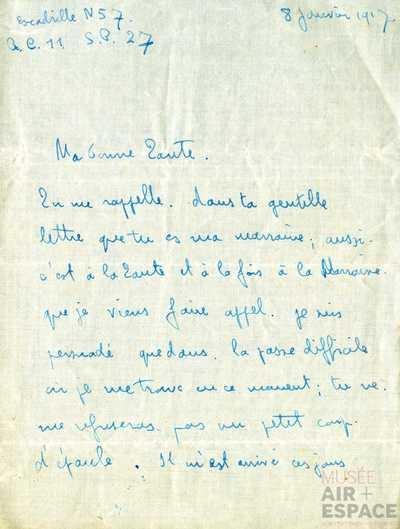08.01.1918 - Brief von Jean an seine Tante