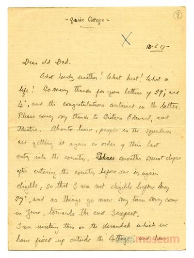 10.05.1917 - Bernard zieht um
