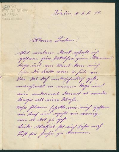 06.07.1917 - Peter und das schlechte Wetter