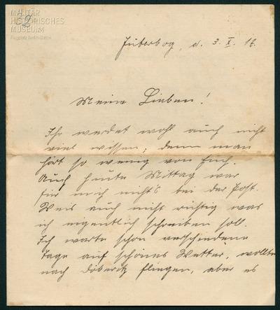 03.10.1917 - Peter an der Flieger-Beobachter-Schule