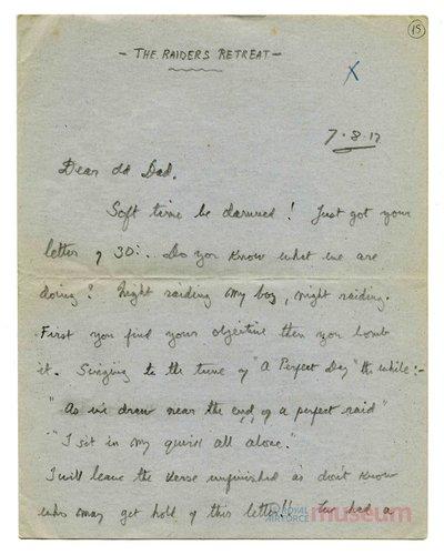 07.08.1917 - Bernards Eskapaden bei Nacht