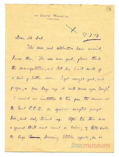 17.07.1917 - Bernard bekommt königlichen Besuch