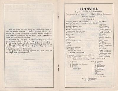 Hamlet, 1922, The tragedie of Hamlet, prince of Denmark, Hamlet, Hamlet, prins av Danmark
