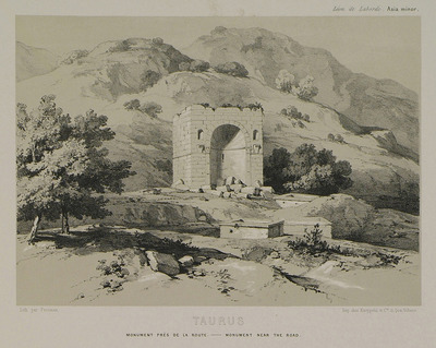 Monument on Taurus mountains in Cilicia, on Alaca plateau, in the district of Erdemli.