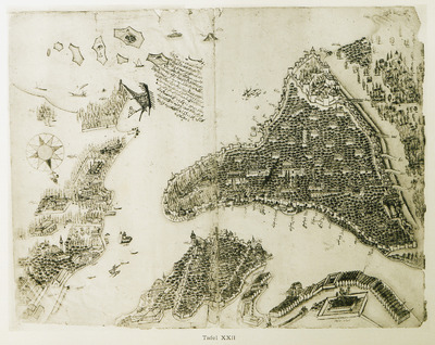 Map of Istanbul.