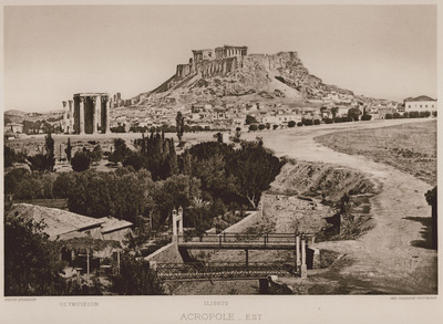 View of the Acropolis from the east.
