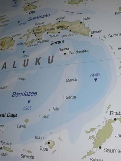 Grote kaart Maluku