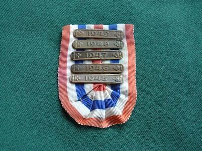 Onderscheiding met jaren 1945-1949