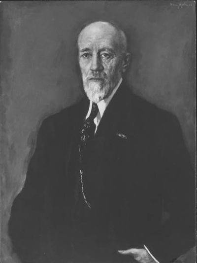 Dr. ir. J.C.F. Bunge, directeur Staatsmijnen, geschilderd door Harry Koolen in 1951. HIj was van 1907 tot 1935 werkzaam bij de Staatsmijnen in Limburg.