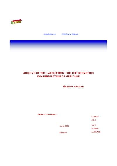 [A_Vitoria_SantaMaria] Documentación geométrica de las excavaciones de la Catedral de Santa María (Vitoria-Gasteiz). Mayo 2000-Junio 2003