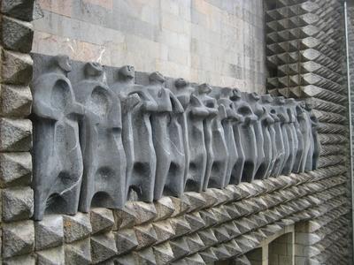 [G_Oñati_Arantzazu] Documentación fotográfica del Apostolado y la Piedad del exterior del Monasterio de Arantzazu (Oñati, Gipuzkoa)
