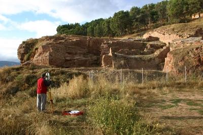 [R_Najera_Alcazar] Documentación geométrica de los restos del Alcázar de Nájera (La Rioja)