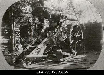 Vene 33.jalaväediviisi suurtükibrigaadi 6-tolline                      kindlusesesuurtükk.
