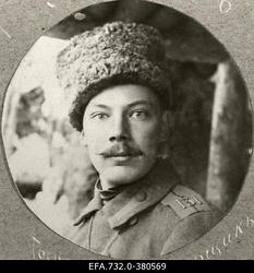 Vene 33.Jalaväediviisi 131.Tiraspoli polgu 8.roodu nooremohvitser lipnik                      Johann Ostrat.