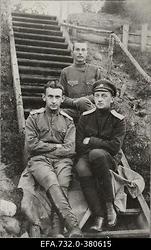 Vene 33.Jalaväediviisi 131.Tiraspoli polgu ohvitserid leitnant Rukevitš                      ja staabikapten Rukevitš.