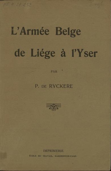 L'armée belge de Liège a l'Yser