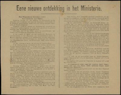 Eene nieuwe ontdekking in het Ministerie hoe Vlaanderen bestolen werd! ten voordele der Walen
