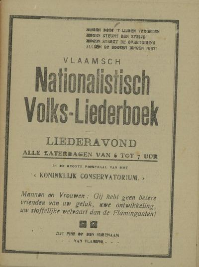 Vlaams nationalistisch volks-liederboek