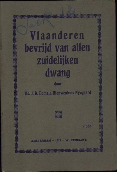 Vlaanderen bevrijd van allen zuidelijken dwang