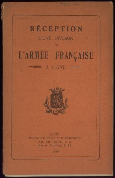 Réception d'une division de l'Armée française à Gand