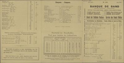 Banque de Gand. N° 20. juni 1917