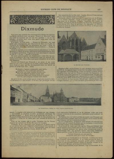 Touring club de Belgique. Dixmude