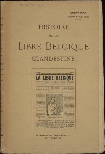 Histoire de La Libre Belgique clandestine