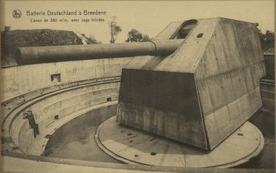 Canon de 380 m/m. avec cage blindée