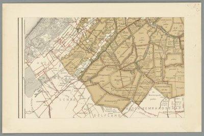 RIJNLAND en aangrenzende waterschappen >> Wandkaart van Rijnland,