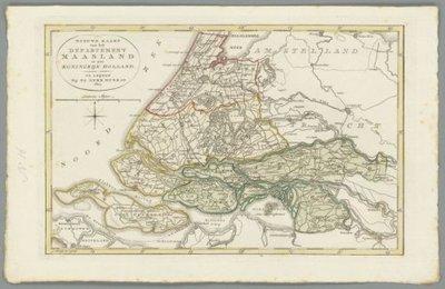 HOLLAND (Noord- en Zuid) >> Zuid-Holland met administratieve indeling,