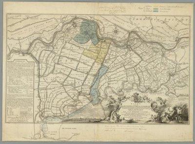 HOLLAND en UTRECHT >> Delen van Zuid-Holland, Gelderland en Utrecht, 1761 (met gegevens over grenswijzigingen in 1818)