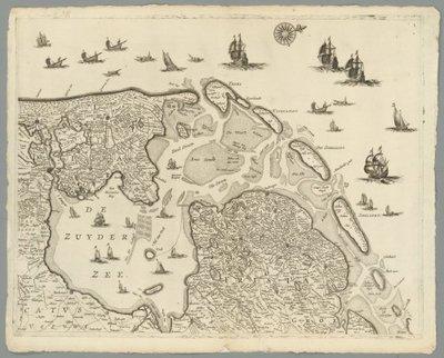 NOORDELIJKE en ZUIDELIJKE NEDERLANDEN >> Wandkaart van de Zeventien Verenigde Nederlanden,