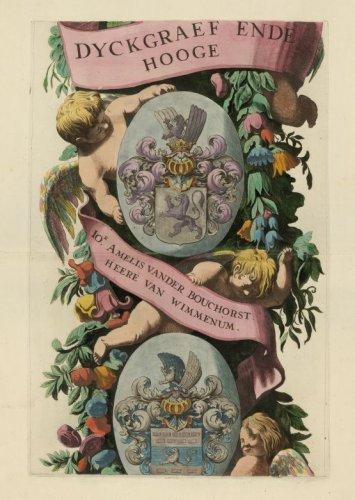GECOMBINEERD INGEBONDEN KAARTEN >> Band houdende de wandkaarten van Rijnland (1687), het Land van Woerden (1684) en de Vijfheerenlanden (1741),