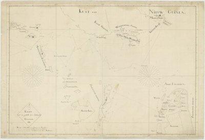 Zuidooster- en Zuidwester Eilanden >> Kaart van een gedeelte der Zuid-Ooster Eilanden.