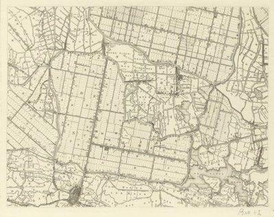 RIJNLAND en aangrenzende waterschappen >> Wandkaart van de uitwaterende Sluizen in Kennemerland en Westfriesland, (= vrijwel geheel Noord-Holland),