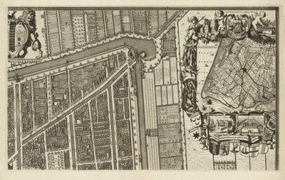 ZUID-HOLLAND >> Wandkaart van Delft,