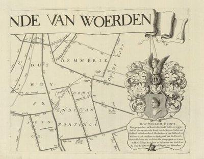 LANDEN VAN WOERDEN >> Wandkaart van de Landen van Woerden,