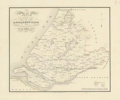 HOLLAND (Noord- en Zuid) >> Afstandswijzer van Zuid-Holland,