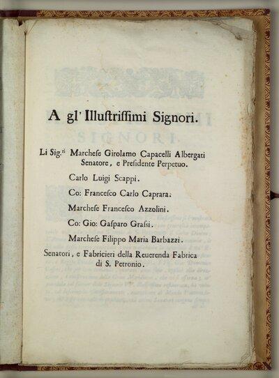 La meridiana del tempio di S. Petronio tirata, e preparata per le osseruazioni astronomiche l'anno 1665. Riuista, e restaurata l'anno 1695. Di Gio. Domenico Cassini ..