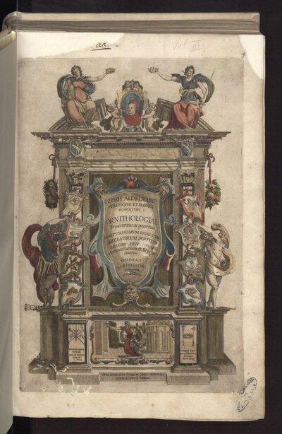 Ornithologiae tomus tertius, ac postremus. Ad eminentissimum principem Alexandrum Perettum ... Cum indice copiosissimo variarum linguarum