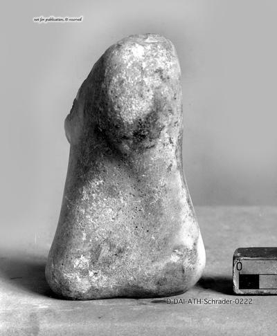 Fragment eines rechten Fußes